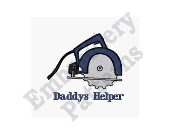 Daddys Helper - Machine Embroidery Design