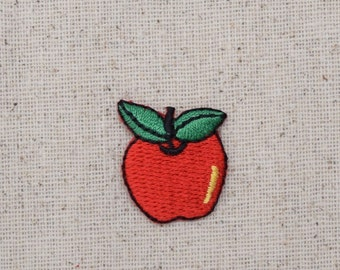 Red Apple - Fruit - Food - Embroidered Patch - Iron on Applique - AP-511193