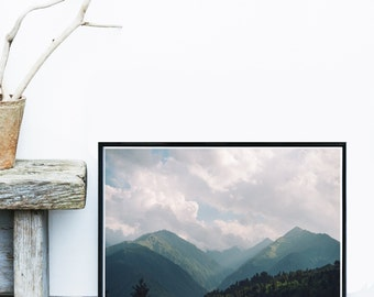 Mountain Art Print, Landscape Photo, Printable Art, Mountain Photography, Home Decor, Wall Decor, Wall Art, Instant Download