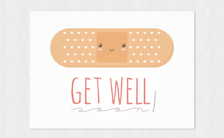 Amazing image with get well card printable