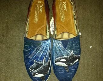 Orca Whale Custom Shoes