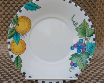 Mikasa Pomme Court Saucer - Lemon and Grapes, Hard to Find