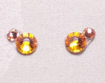 Tangerine & Pink Eye Candies ATS Tribal Fusion Bindi - 00116
