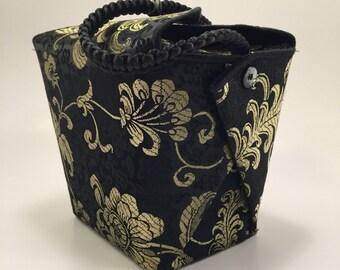 Evening bag, Formal evening bag, Party purse, OOAK purse, Take out box purse, Brocade wristlet, Satin purse, UNIQUE PURSE, Designer Handbag