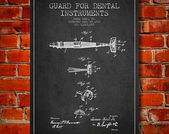 1912 Guard for dental instruments Canvas Art Print, Wall Art, Home Decor, Gift Idea