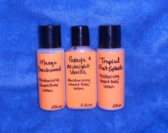 Sampler of 3 Moisturizing Hand & Body Lotion with Sunflower Oil and Allantoin  2 fl. ounce each  *6 fl. oz. total*
