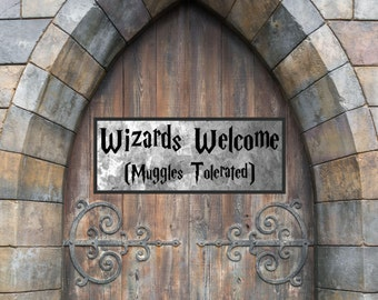 Welcome Muggles Etsy