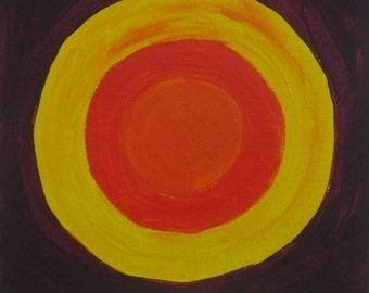 "Sun Original Painting 8"" X 8"""