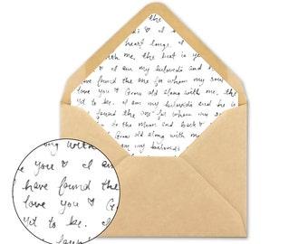 Wedding Envelope Liner - Unique Envelope Liner template - A7 square - A7 triangle - A2 square - A2 triangle