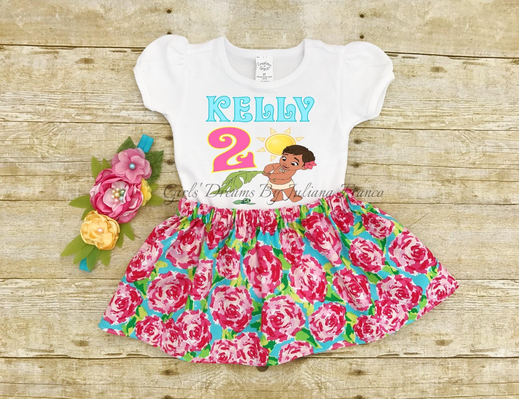 Moana cumpleaños ropa de bebé tutú de Moana de bebé bebé