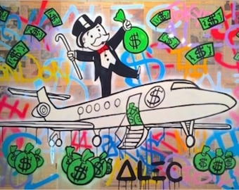 Alec Monopoly FLY Canvas Print