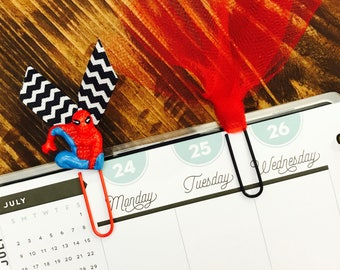 Spiderman and Tulle Paperclips