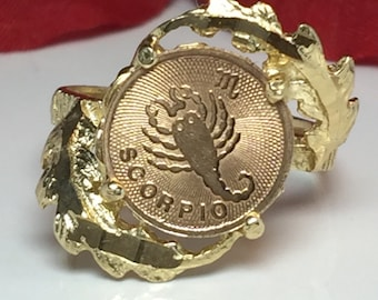 scorpio shaped women vintage rings gold ring ancient new detail personality product