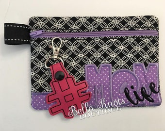 Mother's Day gift, Zipper Pouch, Gift for mom under 15,