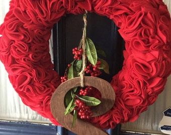 Red Felt Wreath