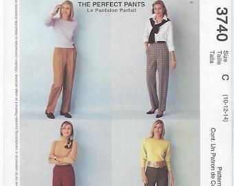 McCalls 3740 - MISSES Classic Fit Pants / Sizes 10, 12, 14