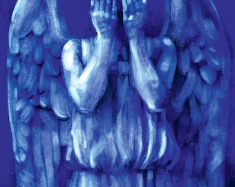 Weeping Angel Don't Blink Doctor Who David Tennant Matt Smith 11x17 Print (Signed by Barry Sachs)