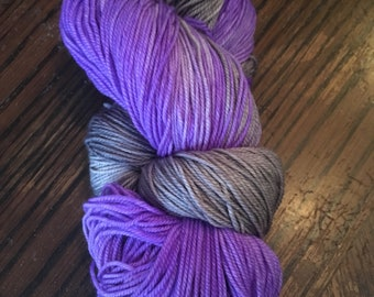 Wool dyed by hand