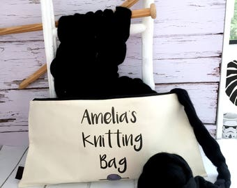 Personalised Giant Knitting Needle Bag | Personalised Extreme Knitting Needle Case | Chunky Knitting Accessories | Big Knitting Needle Bag