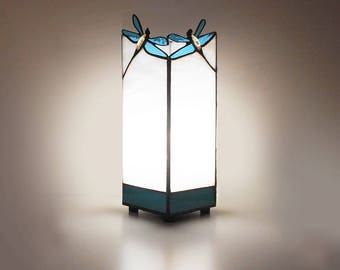 Lamp Dragonflies. Handmade lamp. Tiffany table lamp. Stained glass lamp. Home decor. Unique lamps. Decorative table lamp