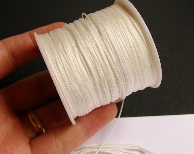 Nylon Cord - knotting/beading cord - 1mm - 70 meter - 230 foot - white - N7