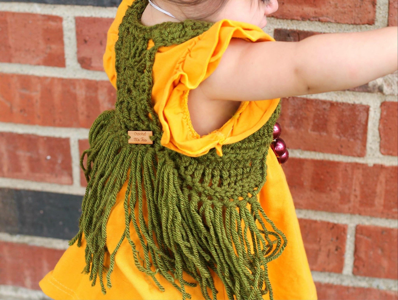 Crochet Boho Cardigan Boho Vest Jacket Fringe Vest Hippie