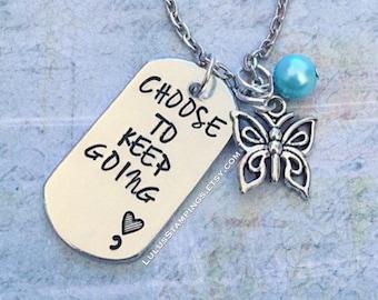 Keep Going Awareness Necklace