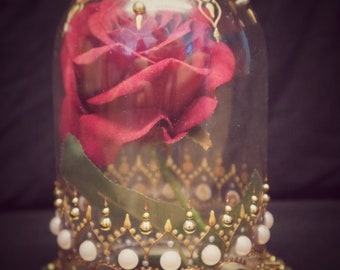 Beauty and the beast rose vase