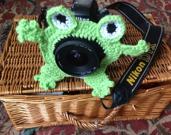 Frog lens cover, photo prop, lens buddy, baby photography, photo shoot, children's photography.