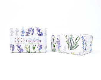 Sea Salt Lavender with Bergamot Soap - 4 Bar Collection Handmade Soap - FREE Shipping
