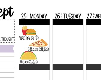Take Out Planner Stickers