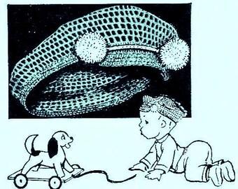 Boys Hat with Visor Crochet Pattern 723052