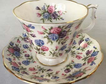 "Royal Albert ""Mayfair"" Nell Gwynne Series, Pink, Blue, Purple flowers"