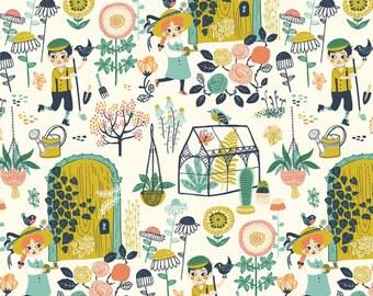 Hidden Garden Main by Miriam Bos for Birch Fabrics, Quilting Cotton, Organic Poplin - Half Yard or By the Yard