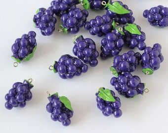 simulation fruit vegetable grape model charms DIY jewelry findings