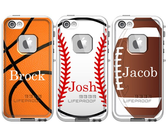 sports personalized lifeproof fre iphone 5  5s iphone 5c or