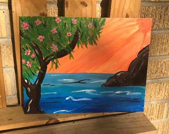 Ocean - 8X10 Canvas Panel Painting