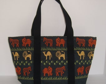 Love the Wild Animals Tote Bag Purse/Diaper Bag