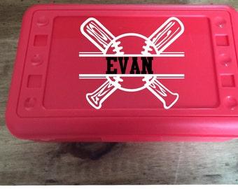 Back to School, Personalized Baseball Pencil Box, .