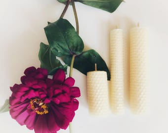 Pure Beeswax Rolled Candle Assortment - Gift Set - Handmade - Natural Scent