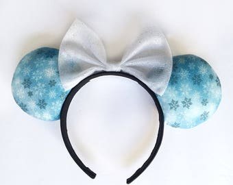 Glitter Snowflake Minnie Ears