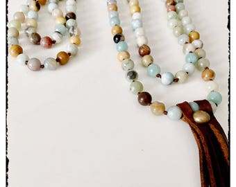 Boho extra long necklace