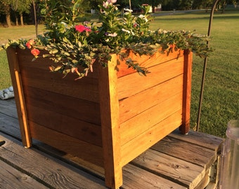 Large Reclaimed Wood Planter