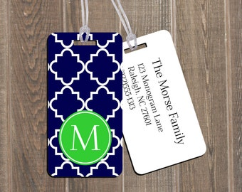 Bag Tag Set - Family 4 Pack Luggage Tags Personalized Custom Monogram Tag Set Travel Accessories Baggage Backpack Create a customized design