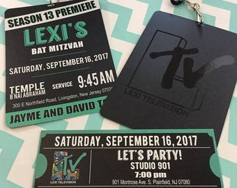 Premiere VIP Pass Invitation with Lanyard and Gloss Logo