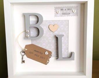 Personalised Letter Wedding/Christening/Engagement Frame Gift