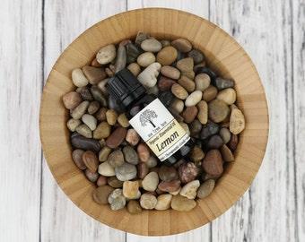 SALE: Organic Lemon Essential Oil • Therapeutic Grade • Pure • Uncut • Citrus • 10 ml With Dropper Caps • Italy •