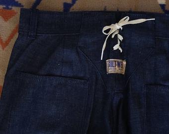 Vintage 1940s 40's Bilt-Well Denim Dungarees Jeans Pants Work Wear deadstock