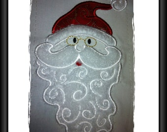 Santa Applique Design for Machine Embroidery 5 x 7inch/130x180mm hoop