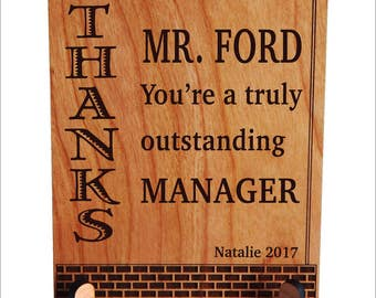 Manager Gift - Gifts for Mentor Boss - Boss's Day Gift - Male Boss Gift - Boss Lady Gift, PBA017